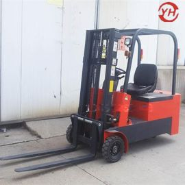 电动叉车三支点三轮液压装卸车小型堆高搬运车座驾式电力堆高车