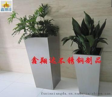 不锈钢大花盆供应商 方形大花盆定制批发