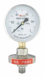 青岛利尔得膜盒压力表