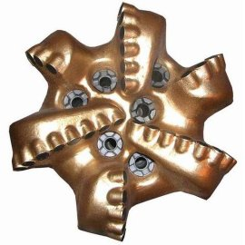 六刀翼PDC钻头,金刚石复合片钻头