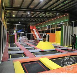蹦床厂家定制蹦床魔鬼旱雪滑梯 大型蹦床馆设备 室内儿童乐园加盟