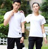 速乾衣男女短袖t恤圓領夏季運動跑步戶外大碼寬鬆健身T恤衫印logo