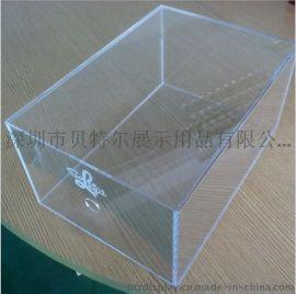 定制透明鞋盒有机玻璃鞋子包装盒抽屉式鞋盒
