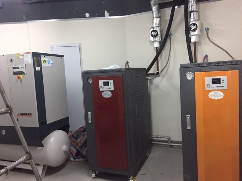 洗衣房夾燙機配套用2臺72KW電蒸汽鍋爐 全自動電熱蒸汽發生器