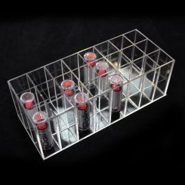 亚克力收纳盒,口红收纳盒,化妆品指甲油小样收纳口红盒24格