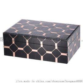 鸿茂工厂代加工定制玻璃珠宝盒镜面首饰盒 装饰盒