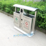 户外垃圾桶不锈钢分类果皮箱金属公园小区街道垃圾桶