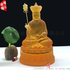 广州琉璃工艺品厂家琉璃地藏王菩萨佛像寺庙琉璃万佛墙