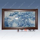 手繪瓷板畫定做廠家,酒店裝飾瓷板畫