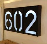太阳能门牌灯 户外防水壁灯 一个数字即一个灯 LED数字灯