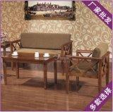 靠背椅麻布定制促销浅胡桃木色休闲酒店户外出口别墅创意长桌椅