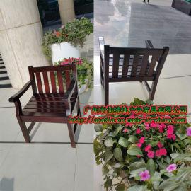 廠家定制 單人位實木沙發/戶外休閒沙發/扶手椅/公園椅