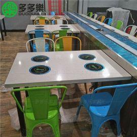 一人一锅小火锅桌椅 人造石火锅桌子 火锅店餐桌