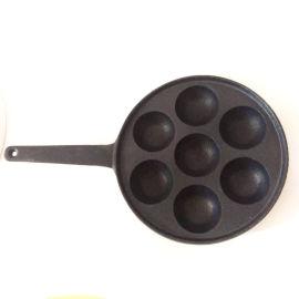 铸铁章鱼小丸子烤盘无涂层丸子烧锅烧烤机锅具日式烤盘