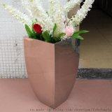 不鏽鋼花盆 弧邊花瓶