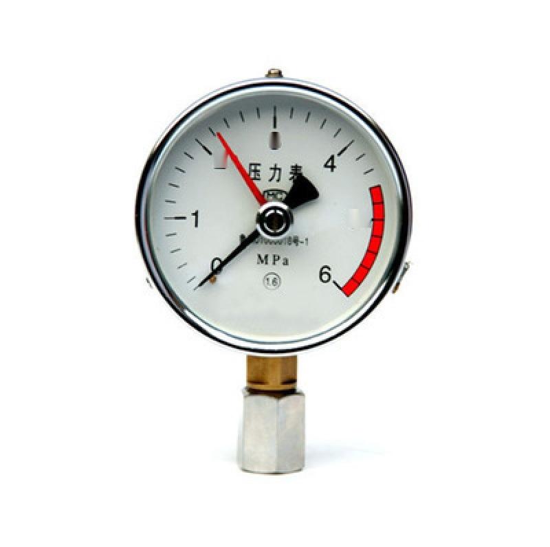 耐震充油压力表YN-100B不锈钢耐震压力表
