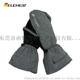 发热保暖PU面料发热手套 防水防污电热手套