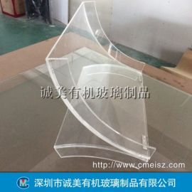 透明有机玻璃弧形热弯 亚克力半圆弯折 无缝热压