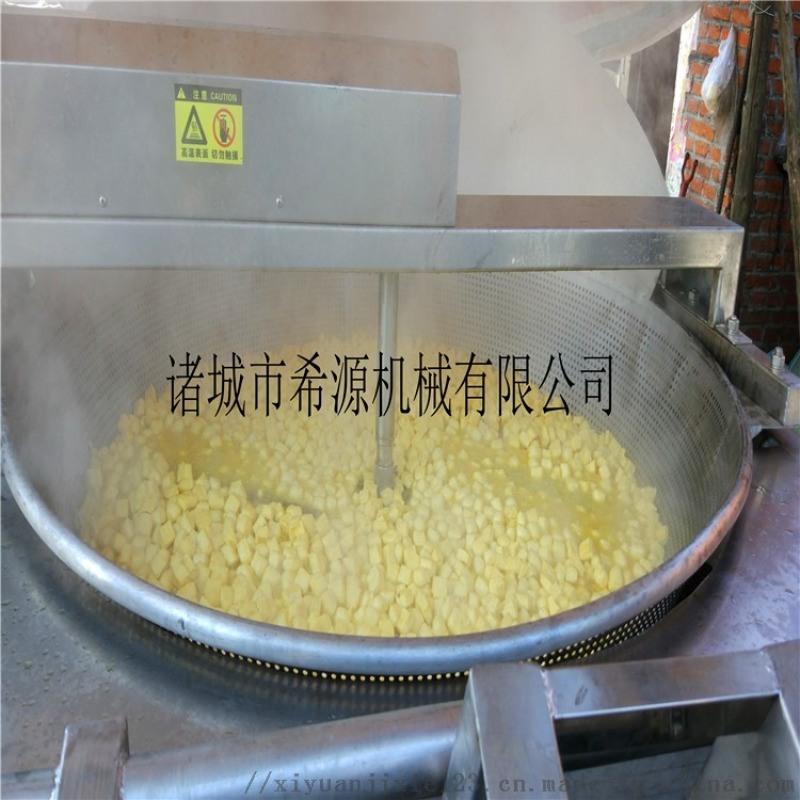 自动搅拌豆泡油炸机厂家  炸豆泡油炸机设备介绍