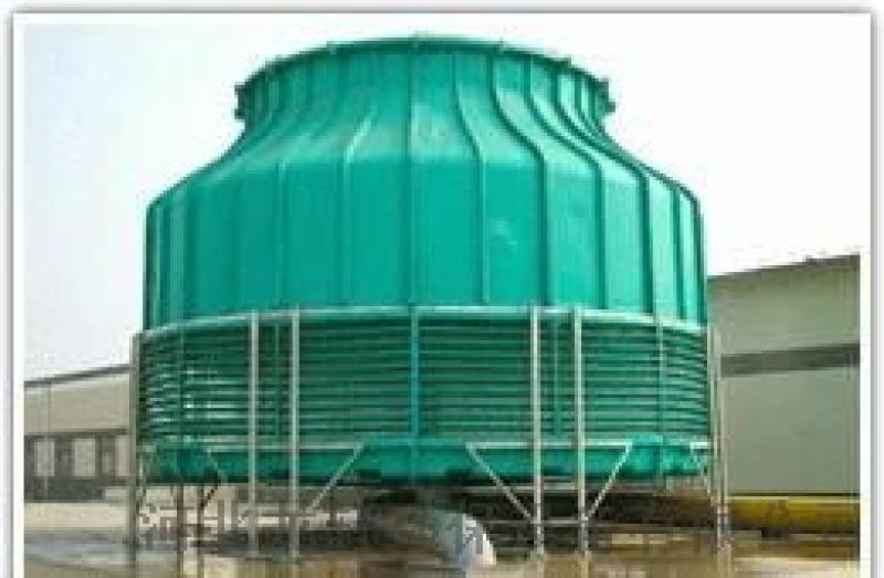 工业型200T冷却塔圆形逆流玻璃钢冷却塔 冷水塔