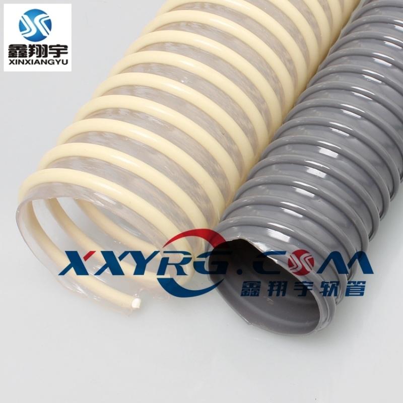 PVC排水管牛筋 螺旋管塑筋管吸尘 排风通风除尘管