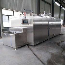不锈钢香蕉隧道式速冻机 火锅牛肉卷隧道式速冻机