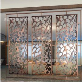 屏風隔斷加工定制不鏽鋼玄關電鍍酒店會所屏風裝飾屏風