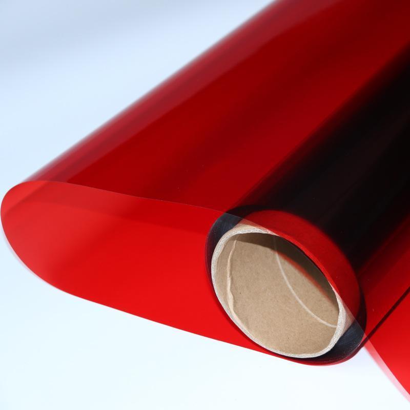 销售大红色玻璃太阳膜玻璃改色膜玻璃防爆膜