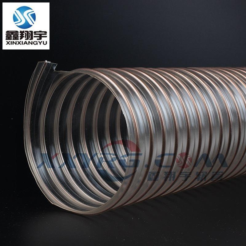 耐磨pu钢丝软管, 导静电吸尘软管, 聚氨脂pu耐高温集尘管, 木工吸尘