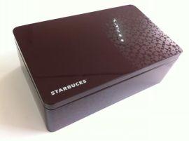 江苏华鹏长方内塞盖食品铁盒定制用于烘焙食品礼品装