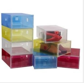 彩色透明PP鞋盒