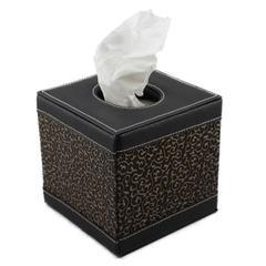 酒店皮具纸巾盒,客房皮革抽纸盒,创意家居皮革餐纸盒