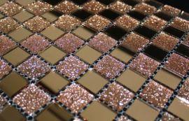 遼寧朝陽熱銷粉鑽鏡面玻璃馬賽克-低價批發