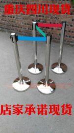 现货不锈钢栏杆座一米线 伸缩带 礼宾柱现货挂绳栏杆护栏