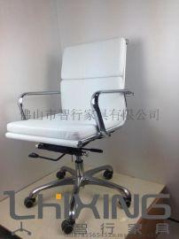 热卖新款简约时尚办公椅 舒适高密度海绵金属电脑椅子 升降转椅