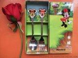迪士尼食具叉勺套裝不鏽鋼食具兩件套創意家居促銷禮品定制logo