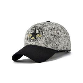 时尚星星绣花棒球帽拼色棒球帽定制 广东帽子工厂OEM