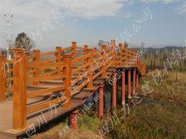 贵州云南水泥仿木栏杆/护栏/栅栏生产厂家四川力达