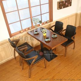 咖啡厅沙发 西餐厅靠墙卡座桌椅 奶茶店 甜品店 简约沙发桌椅组合