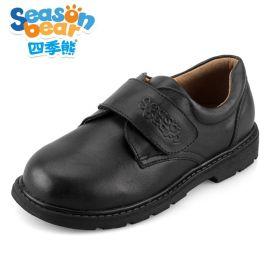 四季熊  皮鞋2016秋冬新款儿童鞋黑色中大童学生演出皮鞋真皮鞋
