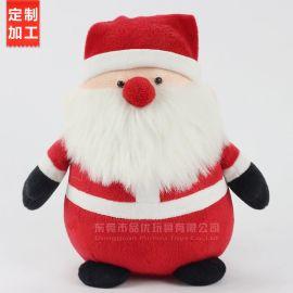 厂家定制圣诞老人毛绒玩具 创意圣诞节公仔礼品挂件玩偶装饰品