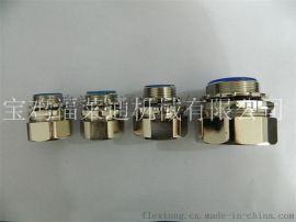福莱通电气配线管接头 直接式盒接头 锌合金镀镍 美观大方耐腐耐用