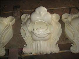 风水墙壁挂件 人造砂岩雕塑水景装饰挂件 人造石浮雕动物狮子头壁挂