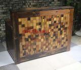 老船木前台办公台讲台收银台老船木家具原木实木家具