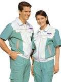 花都夏季工作服定制廠家,新華員工工衣加工定做  價格優惠 免印字繡花