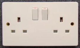 3x6英式、双联13A、 二位英标、 英规、香港电源带灯插座