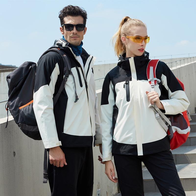 秋冬装户外男女三合一冲锋衣防风保暖可脱卸两件套定制团体登山服
