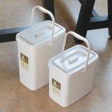 廠家批發塑料帶蓋方形茶水桶 茶具清潔桶茶渣桶 加厚排水桶