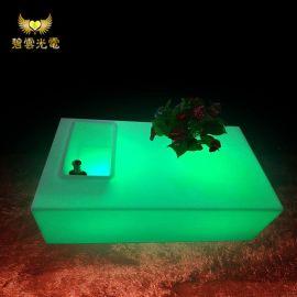 LED发光家具茶几 户外休闲发光桌 海边沙滩发光桌 酒吧KTV发光桌
