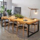 現代簡約會議辦公桌商用新中式茶桌洽談桌配牛角椅